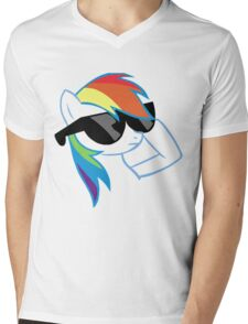 Rainbow Dash Don't Care Mens V-Neck T-Shirt