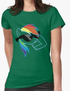 Rainbow Dash Don't Care Womens Fitted T-Shirt