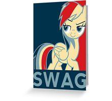 Rainbow Dash Communist Swag Greeting Card