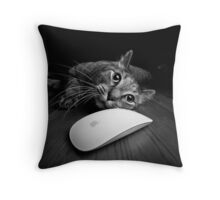 Cat & Mouse Throw Pillow