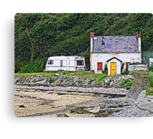 Abandoned By The Shore Canvas Print