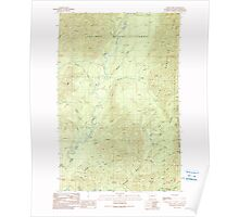 USGS Topo Map Washington State WA Burnt Hill 240283 1990 24000 Poster