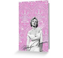 Marilyn Monroe Greeting Card