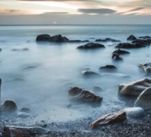 White Rock Beach, Dalkey, Ireland Sticker