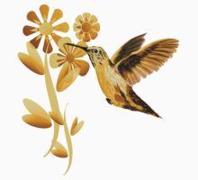 Gold Hummingbird by Lotacats