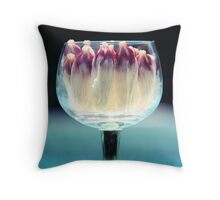 Hibiscus Wine Throw Pillow