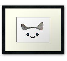 Kawaii kitty ears Framed Print