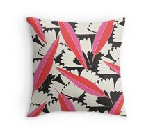 B&W Floral Throw Pillow