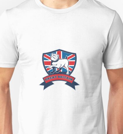English bulldog Team Great Britain mascot Unisex T-Shirt