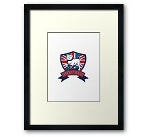 English bulldog Team Great Britain mascot Framed Print