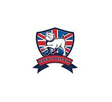 English bulldog Team Great Britain mascot Photographic Print