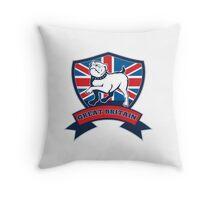 English bulldog Team Great Britain mascot Throw Pillow