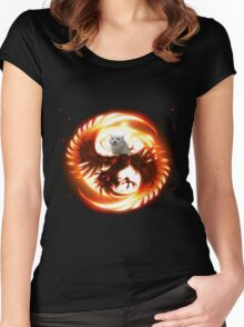 Cat the legendary pheonix Women's Fitted Scoop T-Shirt