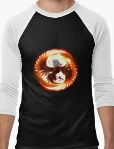 Cat the legendary pheonix Men's Baseball ¾ T-Shirt