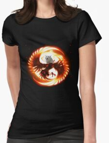 Cat the legendary pheonix Womens Fitted T-Shirt