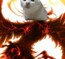 Cat the legendary pheonix Sticker