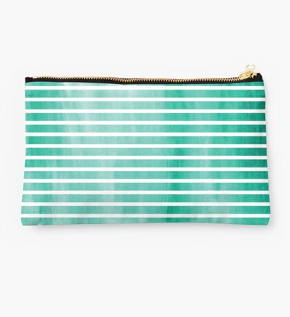 stripey turquoise. Studio Pouch