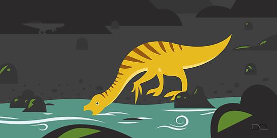 Beipiaosaurus and Psittacosaurus by David Orr