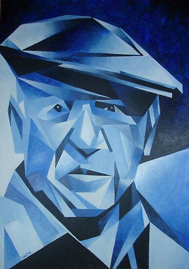 Cubist Portrait of Pablo Picasso: The Blue Period by taiche