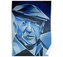 Cubist Portrait of Pablo Picasso: The Blue Period Poster