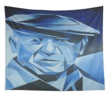 Cubist Portrait of Pablo Picasso: The Blue Period Wall Tapestry