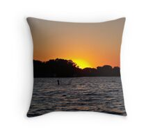 Twilight Oasis Throw Pillow