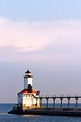 East Pierhead Light, Michigan City, Indiana by Kenneth Keifer