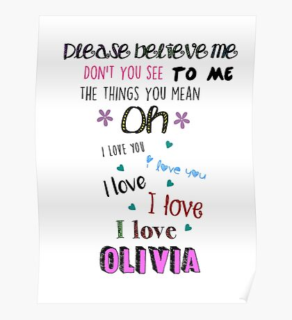 One Direction - Olivia Poster
