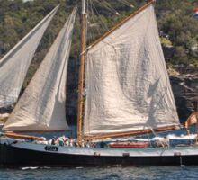 """Tecla"", Tall Ships Departure, Manly, Australia 2013 Sticker"