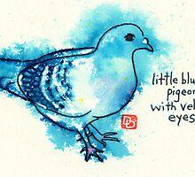 Little Blue Pigeon by dosankodebbie