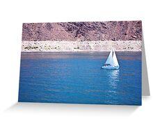 Sailing on Lake Mead Greeting Card