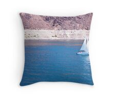 Sailing on Lake Mead Throw Pillow