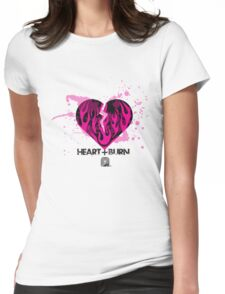 Heart+Burn Tee Womens Fitted T-Shirt