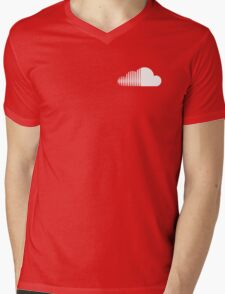 Soundcloud Icon Orange Cloud Mens V-Neck T-Shirt