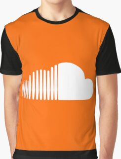 Soundcloud Icon Orange Cloud Graphic T-Shirt