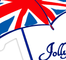 Union jack weather umbrella t-shirt Sticker