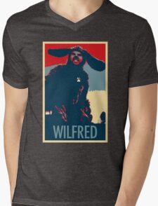 WILFRED - Posterized Mens V-Neck T-Shirt