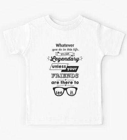 Legendary - Barney Stinson Quote (Black) Kids Tee