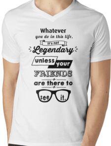 Legendary - Barney Stinson Quote (Black) Mens V-Neck T-Shirt