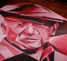 Cubist Portrait of Pablo Picasso: The Rose Period by taiche