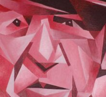 Cubist Portrait of Pablo Picasso: The Rose Period Sticker