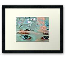 A Blue-Eyed Girl Framed Print