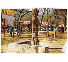 Scene at the Food court in the Surajkund Mela Poster