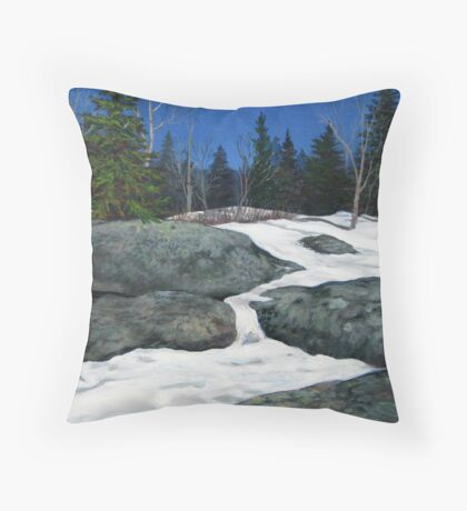 Thaw at the Second Lagoon Throw Pillow