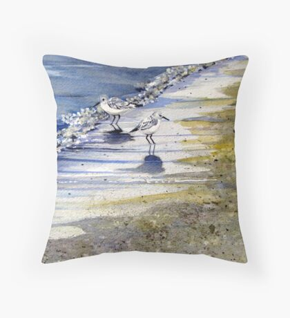 Sandpipers in the Bubbles Throw Pillow