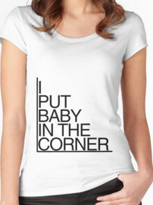 Baby in the corner Women's Fitted Scoop T-Shirt