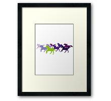 Horses run free Framed Print