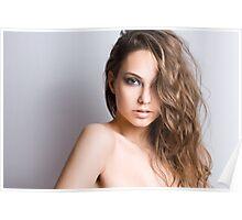 Sensual brunette. Poster