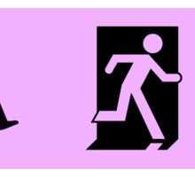 ISO 21542, ISO 7010 Exit Sign with Wheelchair Symbol Sticker