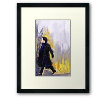 Walking Sherlock Framed Print